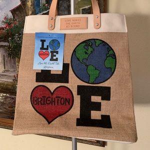 Brighton love the earth tote bag